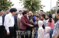 国会主席阮氏金银出席乂安省金莲乡全民大团结日庆祝活动