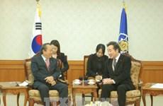 越南政府副总理张和平会见韩国国务总理李洛渊