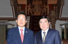 越南胡志明市领导会见自由韩国党党首洪准杓