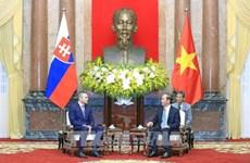 越南国家主席陈大光会见斯洛伐克副总理佩特尔·佩列格里尼