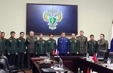 越南国防部领导会见俄联邦副总检察长