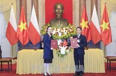 越南通讯社同波兰通讯社签署合作备忘录