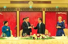 陈大光主持国宴 欢迎波兰总统访越
