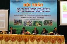 印度与越南九龙江三角洲地区各省加强农业合作