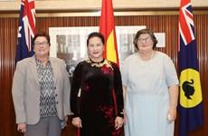 越南国会主席阮氏金银会见西澳大利亚州参议院和众议院领导人