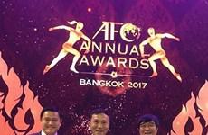 越南足协荣获亚足联颁发的年度最佳足协发展奖