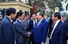 阮春福总理在海防市开展选民接待活动