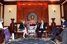 胡志明市委书记阮善仁会见新西兰驻越大使