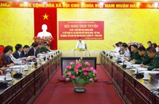 越中边境友好乡镇缔结活动落实情况总结会议在河江省召开