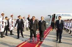 老挝人民革命党中央总书记、国家主席本扬·沃拉吉抵达河内 开始对越南进行正式友好访问