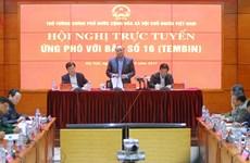 """阮春福总理主持视频会议 指导第16号台风""""天秤""""防御工作"""