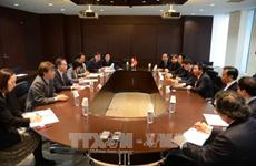 越共中央书记处书记阮春胜对日本进行工作访问