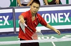 越南羽毛球运动员参加2018年泰国羽毛球大师赛