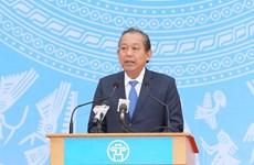 """政府副总理张和平启动""""2018年交通安全年""""活动"""