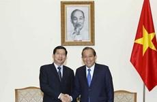 政府常务副总理张和平会见老挝最高人民法院院长坎潘·西提丹帕