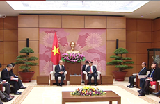 中央组织部部长范明正会见日越友好议员联盟特别顾问武部勤