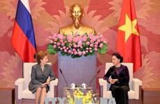 国会主席阮氏金银会见赴越出席APPF-26的俄罗斯联邦议会领导