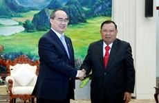 进一步加强胡志明市与老挝各地方的合作关系