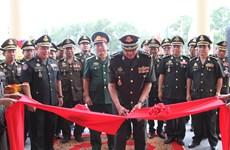越南援建的柬埔寨陆军司令部指挥大楼正式落成