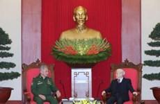 阮富仲总书记会见俄罗斯国防部长谢尔盖·绍伊古