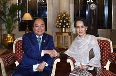 阮春福总理分别会见新加坡、泰国和缅甸领导