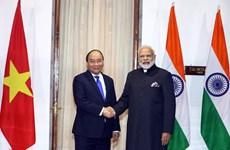 越南政府总理阮春福与印度总理莫迪举行会谈