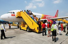 越捷航空推出2.3万张从2.3万越盾起 庆祝越南U23足球队晋级亚洲杯决赛的机票
