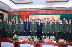 中央宣教部部长武文赏春前走访慰问干部战士和知识分子