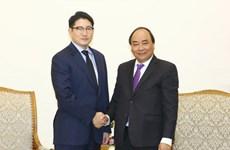 越南政府总理阮春福会见韩国晓星集团社长赵显俊