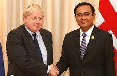 英国外长约翰逊访问泰国