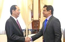 越南国家主席陈大光会见印度塔塔集团越南公司总经理森古普塔