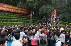 2018年春季放假期间雄王庙历史遗迹区游客接待量近100万人次