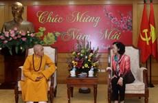 越共中央民运部长张氏梅:承天顺化省佛教一向与民族同行