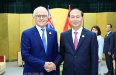越南领导人向澳大利亚领导人致贺电庆祝越澳关系建交45周年
