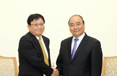 阮春福总理会见日本双日株式会社董事社长藤本昌义