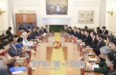 越南国家主席陈大光与印度总理莫迪举行会谈