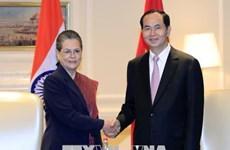 陈大光呼吁扩大印度与越南的合作