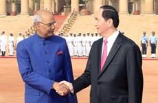 越南国家主席陈大光会见印度总统科温德