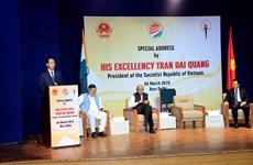 越南国家主席陈大光在新德里尼赫鲁纪念博物馆发表重要演讲