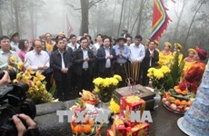 海阳省五岳山祭祀天地仪式吸引四面八方游客前来参加