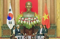 越南国家主席陈大光会见韩国外长康京和