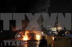 海河18号油船失火事故:火势被彻底扑灭 无人员伤亡