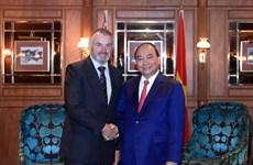 政府总理阮春福会见新西兰议会议长特莱弗‧马拉德