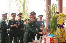 广治省举行烈士追悼会与安葬仪式