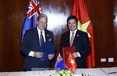 政府副总理兼外长范平明会见新西兰副总理兼外长