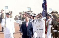 越南外交部副部长阮国勇就阮春福访问新澳两国接受记者采访