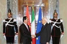 越南与意大利领导人互致贺电  庆祝两国建交45周年