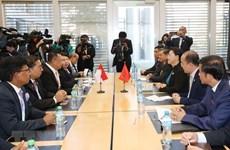 国会主席阮氏金银会见印尼国会议长   会见旅瑞越侨社群代表