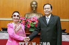 进一步巩固越南祖国阵线与老挝建国阵线的合作