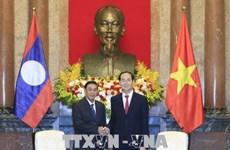 越南国家主席陈大光会见老挝国家主席办公厅主任坎蒙• 蓬塔迪